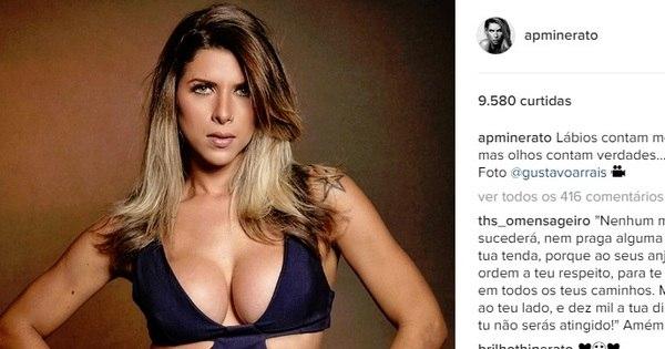 Com decote generoso, Ana Paula Minerato mostra corpão em ...