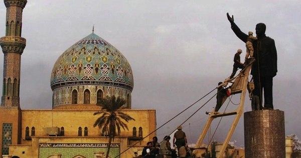 'Eu me arrependi de derrubar a estátua de Saddam Hussein em ...