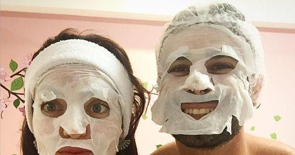Laura Keller e Jorge Souza tomam choques em dia de beleza ...