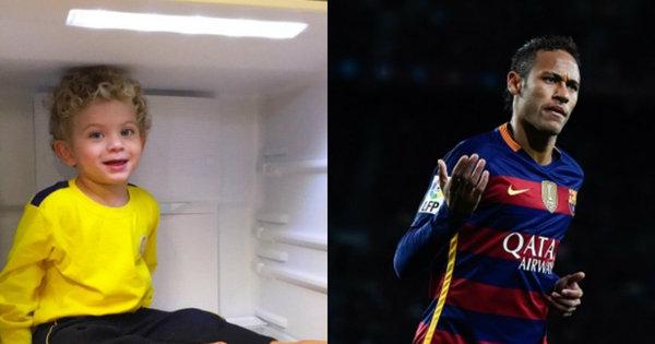 Filho de Ganso dando show de carisma e Neymar como o jogador ...