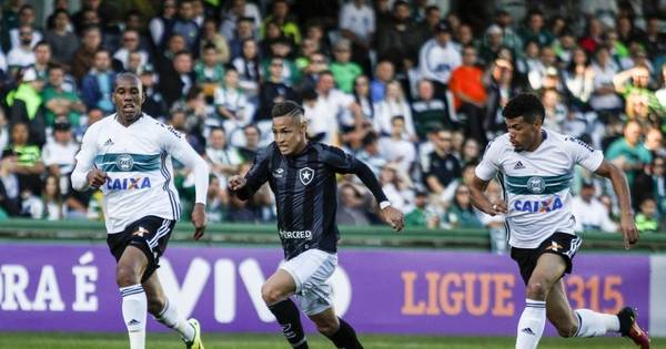 Coritiba e Botafogo empatam sem gols e seguem perto da zona de ...
