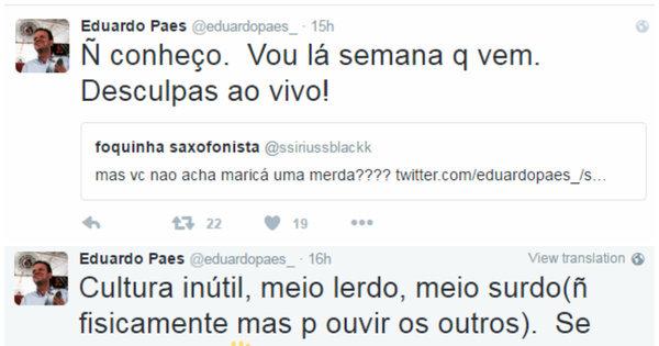Eduardo Paes responde críticas na internet, sugere que carioca se ...