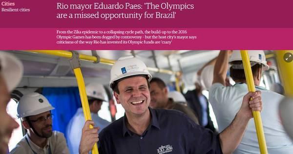 """Paes diz a jornal britânico que Olimpíadas são """" oportunidade ..."""
