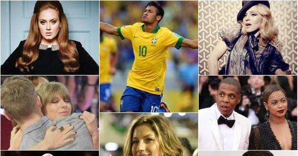Neymar e Gisele Bündchen estão entre as celebridades que mais ...
