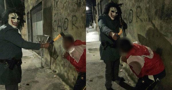 Corregedoria da PM investiga fotos de policial mascarado ...
