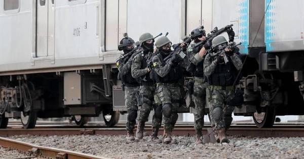 Forças de segurança simulam ato terrorista em estação de trem do ...