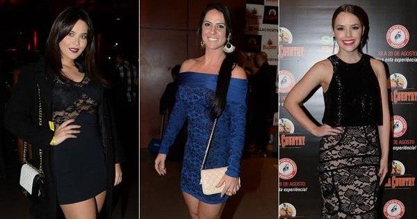 Graciele Lacerda, Geisy Arruda e Thaeme capricham para festa ...