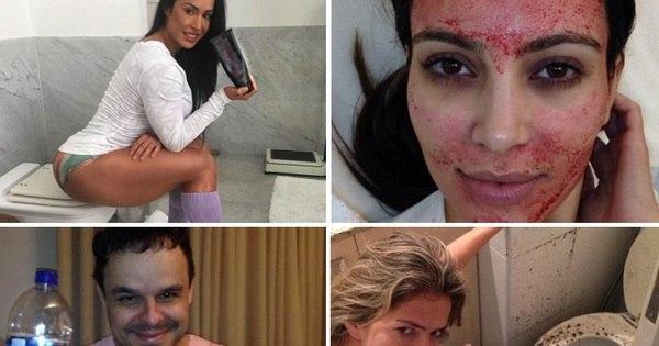 Veja os famosos que não têm vergonha de mostrar fotos chocantes ...