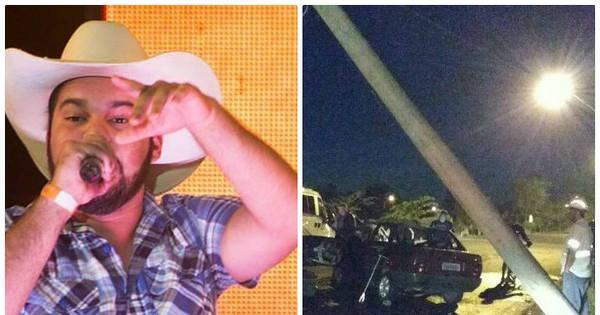 Carro do sertanejo Pedro Lima fica destruído após acidente; veja fotos