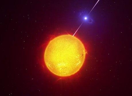 Supertelescópio capta pela 1ª<br />vez estrela que dispara raios