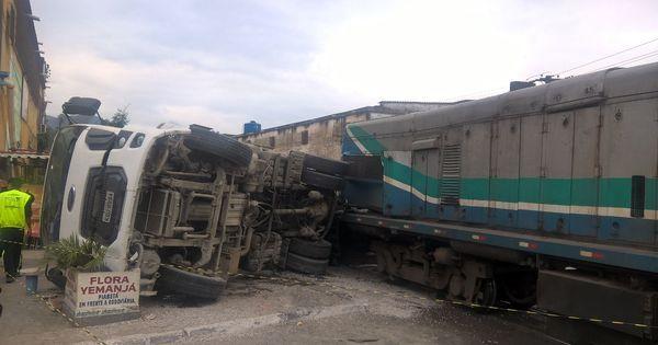 Caminhão e trem se chocam em Magé, Baixada Fluminense ...