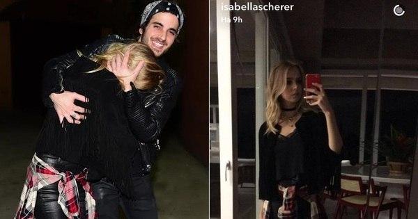 Isabella Scherer tenta esconder o rosto ao deixar festa com Fiuk ...