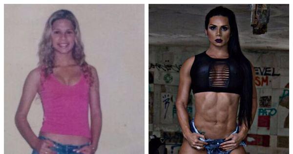 """Mulher Hulk mostra antes e depois: """"Ganhei 24 kg de músculos ..."""