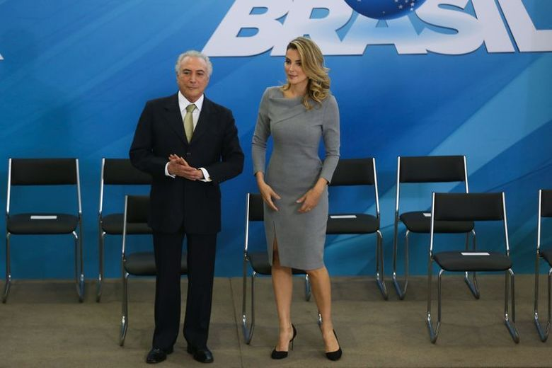 Ao lado do marido, o presidente interino Michel Temer, Marcela manteve a pose de primeira-dama discreta