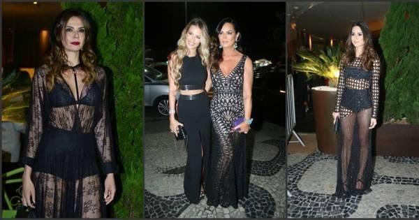 Tá na moda! Famosas usam vestidos vazados no Brazil Foundation ...