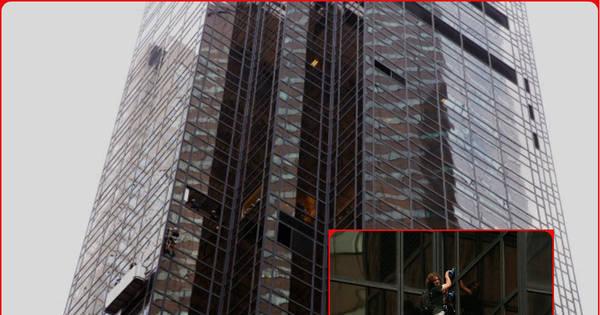 Perigo nas alturas! Homem escala parte da Trump Tower em Nova ...