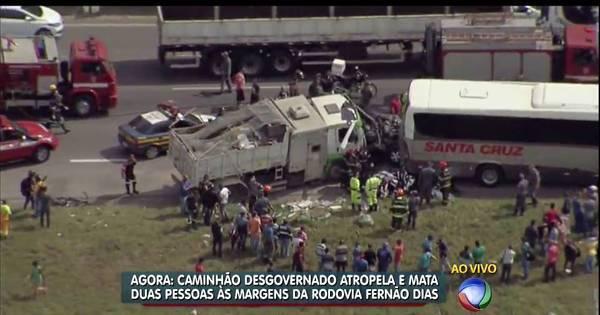 Motorista perde controle de caminhão e mata três na Fernão Dias ...