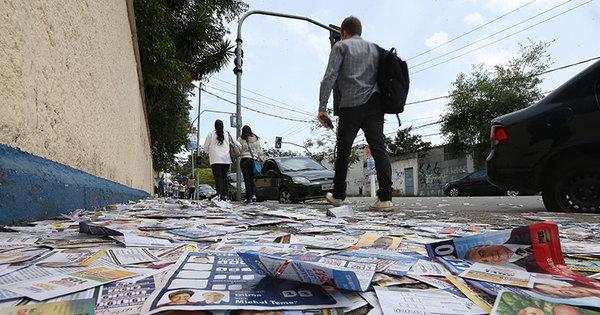 Com menos recursos para campanha, ruas de São Paulo ficam ...