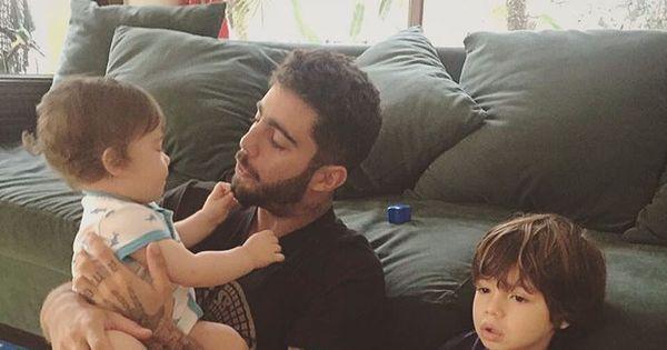 Pedro Scooby posa com filhos e elogia Luana Piovani ...