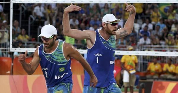 Alison e Bruno vencem dupla holandesa e avançam à final do vôlei ...
