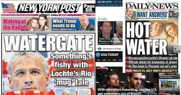'A coisa mais esperta que Ryan Lochte fez foi sair da cidade ...