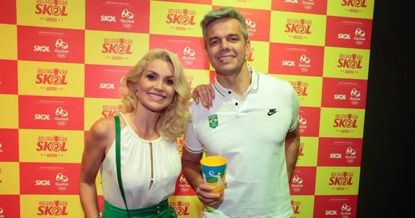 Flavia Alessandra e Otaviano Costa conferem partida do vôlei ...