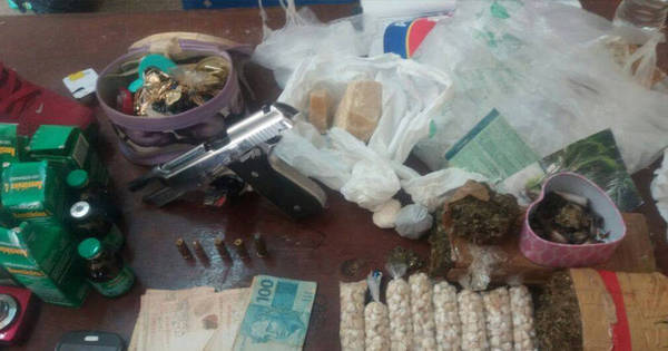 Traficante é preso com maconha, crack, cocaína e balança de ...