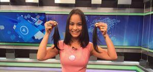 Lidiane Shayuri corta o cabelo ao vivo para doá-lo a pacientes com câncer