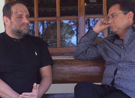 Ex-Polegar Ricardo mostra pela 1ª vez o rosto cheio de hematomas