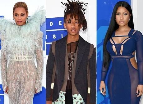 Beyoncé, Jaden Smith e Nicki<br />Minaj sem calcinha se destacam