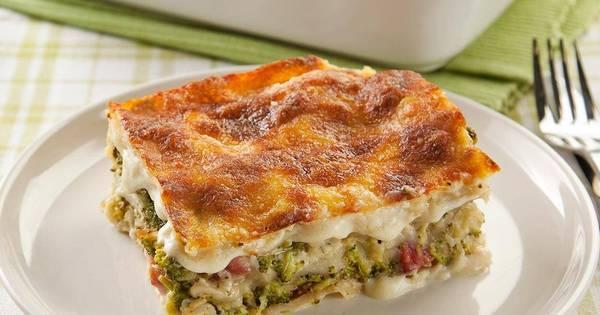 Saborosa! Esta receita de lasanha de brócolis com Delícia Cremosa ...