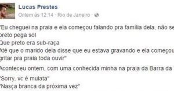 Mulher faz ataques racistas a banhista em praia do Rio e ...