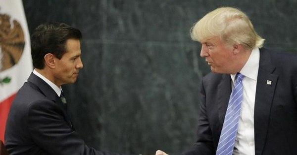 Trump discute muro na fronteira com presidente do México ...
