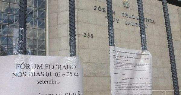 Fórum Trabalhista da Barra Funda está sem vistoria do Corpo de ...