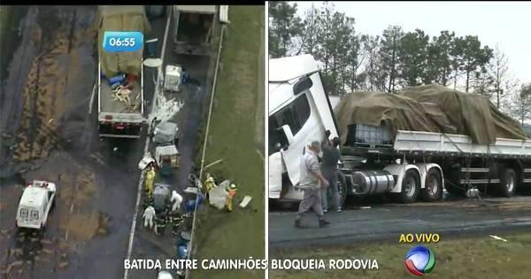 Acidente entre caminhões bloqueia rodovia Ayrton Senna - Notícias ...