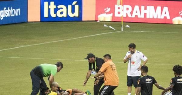 Treino da seleção em Manaus tem invasão de torcida e Neymar ...