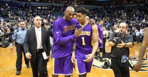 Agora veterano, D'Angelo Russel aconselha o estreante nos Lakers ...