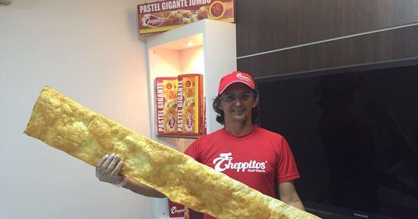 Vai encarar? Maior pastel do Brasil mede 1,5 m e pesa 10 kg ...