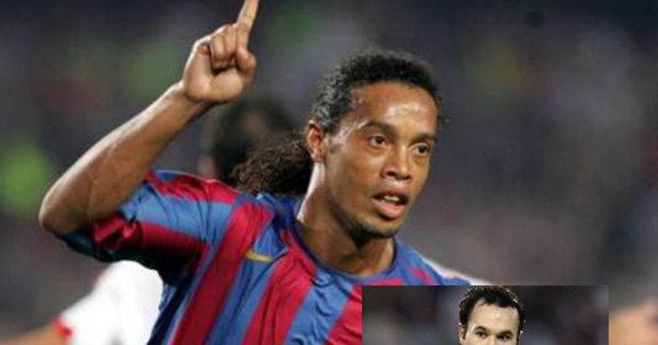 Entre craques! Iniesta revela história incrível sobre Ronaldinho ...