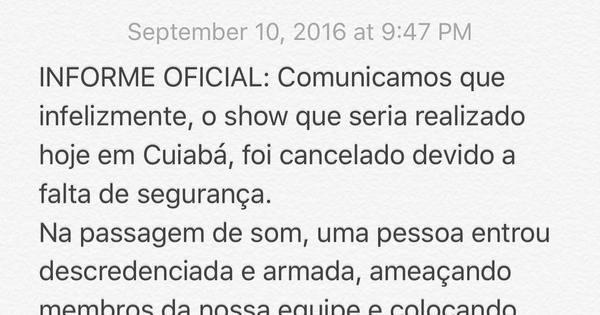 Maria Rita cancela show em Cuiabá após sofrer ameaça na ...