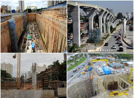 Três das sete obras do Metrô estão paradas e sem previsão de entrega
