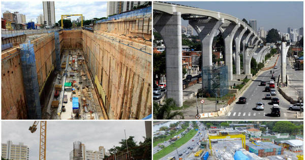 Três das sete obras do Metrô de São Paulo estão paradas e sem ...