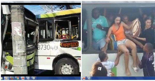 Acidente entre dois ônibus deixa 23 feridos em Vila da Penha, zona ...