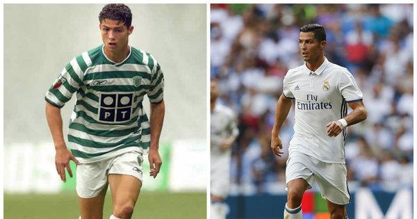 Que mudança! Veja a evolução de Cristiano Ronaldo desde que ...