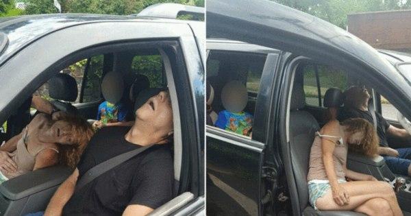 Menino fotografado em carro com avó e namorado desacordados ...