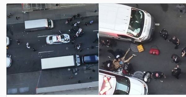 Homem com cutelo de açougueiro ataca policial de Nova York ...