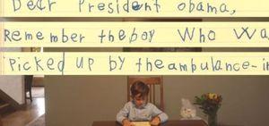 Carta de menino americano emociona internautas
