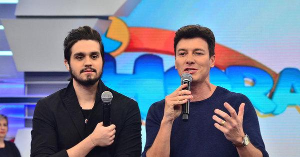 Luan Santana em dose dupla: Rodrigo Faro se caracteriza como o ...