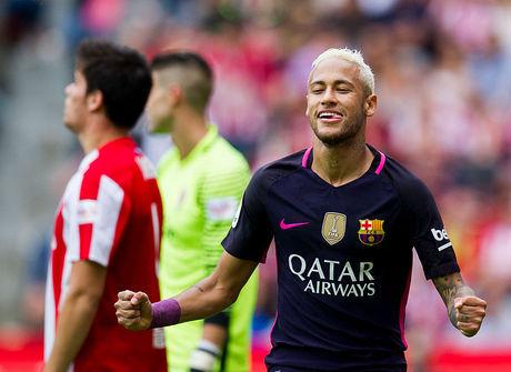Neymar marca dois e lidera goleada do Barcelona
