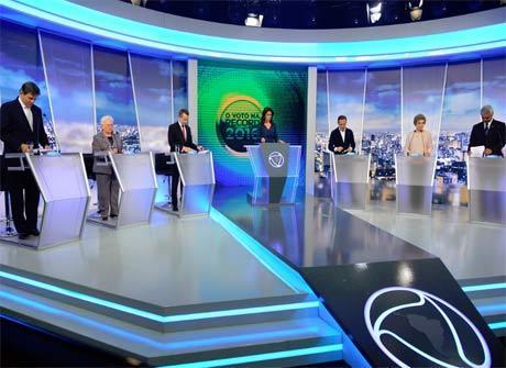 Veja as imagens do debate com<br />os candidatos à Prefeitura de SP